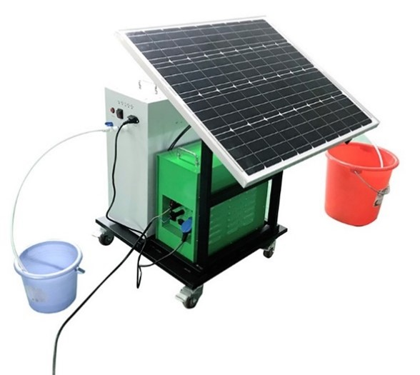A solar-powered water filter
