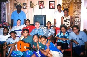 Solomon Islands Mission team at home of first PM - Sir Peter & Lady Margaret Kenilorea