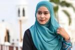 young muslim woman at Mosque in Kuala Terengganu, Malaysia