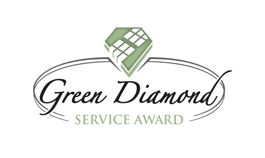 Green Diamond Service Award logo