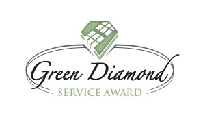 LOGO Green Diamond Service Award 2C