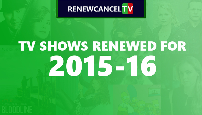 TV Shows Renewed For 2015-16 - Complete List