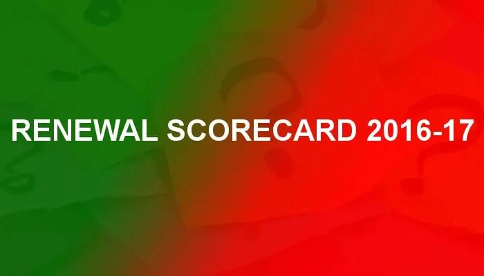 Renewal Scorecard 2016-17 - Cancelled Or Renewed Return Dates