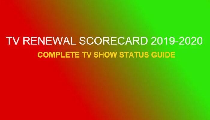 TV Renewal Scorecard 2019-2020