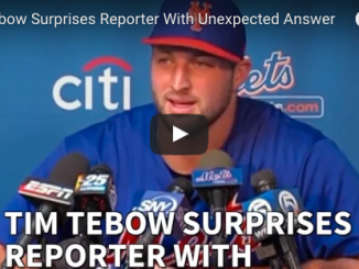 Tim Tebow answers question