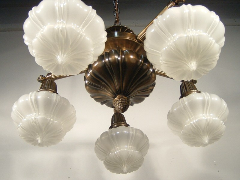 Antique Sheffield Light Fixture  5 Light    Tags  Art Nouveau  Arts and Crafts  Sheffield  See more  Antique Ceiling  Lights