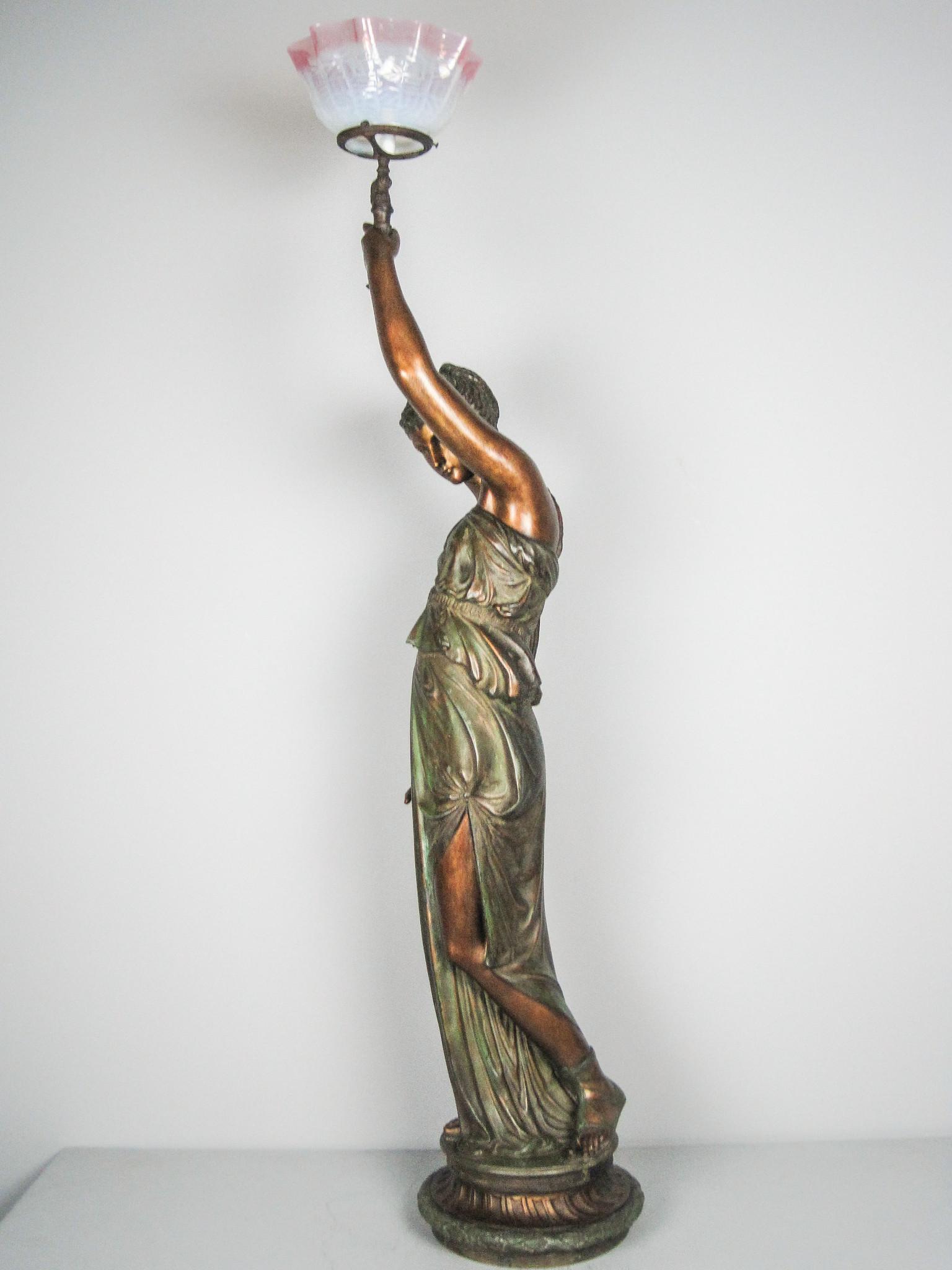 Mitchell Vance Amp Co Goddess Newel Post Lamp