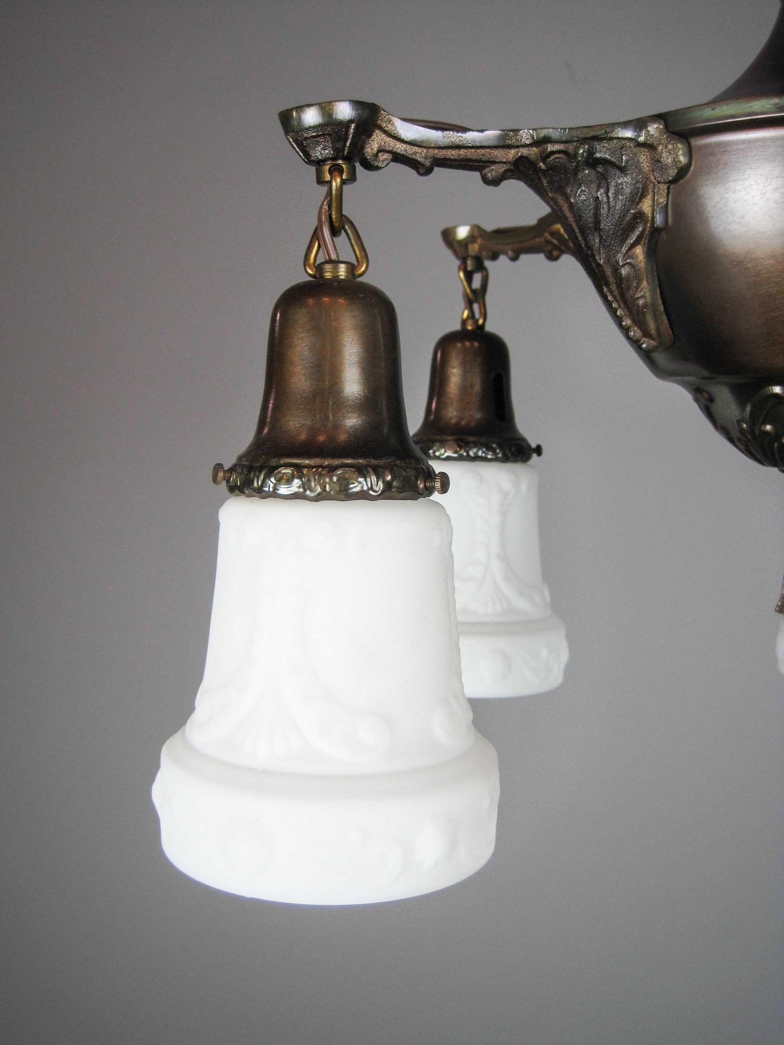 Original Pan Light Fixture 5 Light
