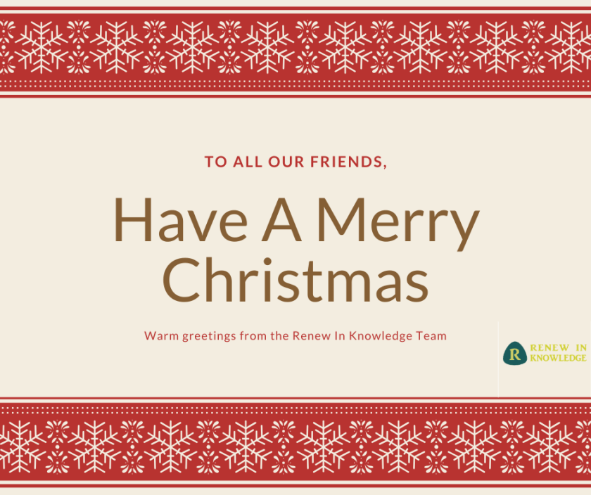 Warm greetings from the Renew In Knowledge Team