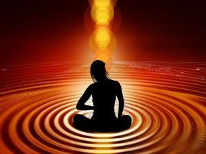 woman, stillness, meditation, light