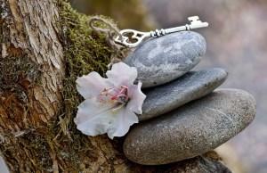 stones, flower, key, balance