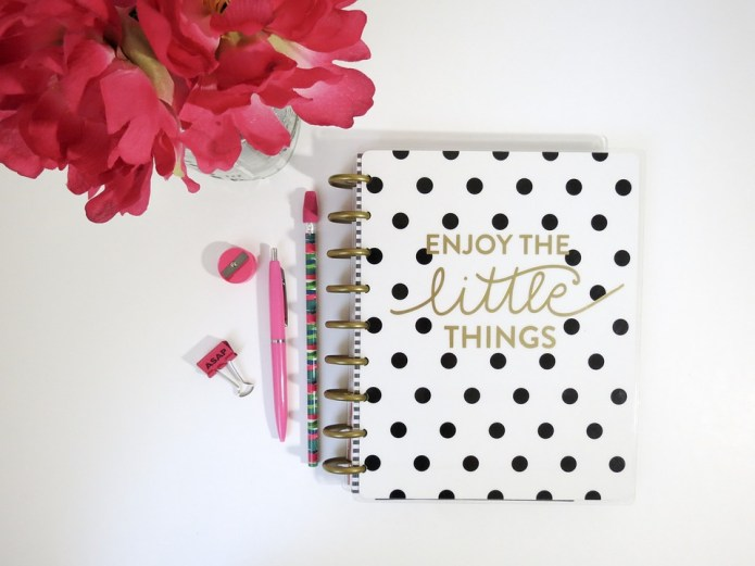 pink, flower, journal, book, write, pen