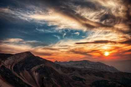 God's Favor, Sunset, Mountains, Clouds, Sky
