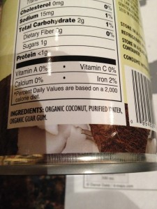 Coconut milk in a can.