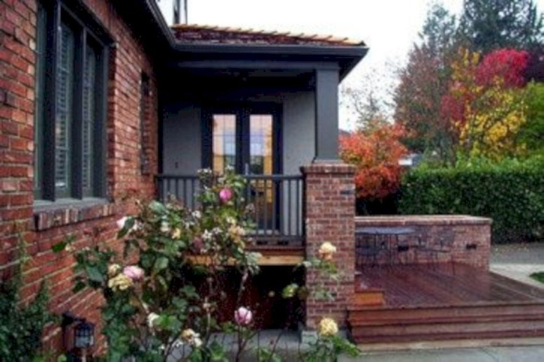 Arrangement Of A Neat Red Brick To Beautify The Exterior Of The House 18