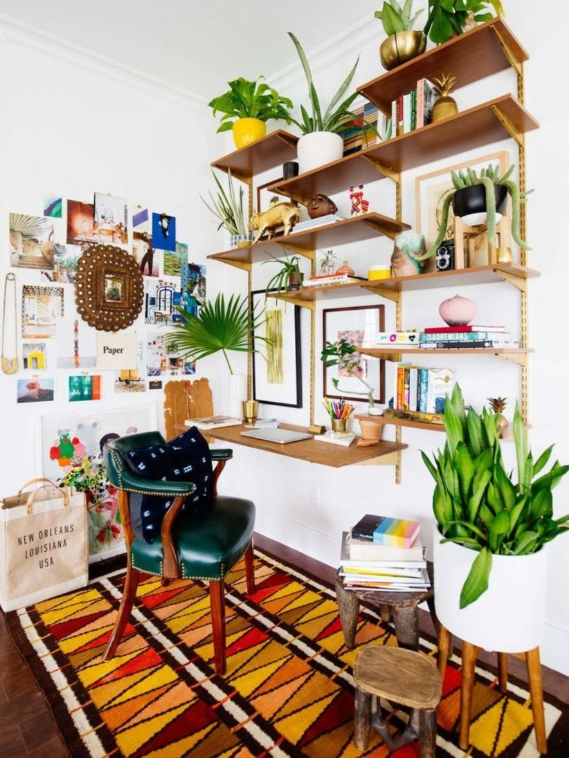 Bohemian Home Office Decor To Inspiration 03