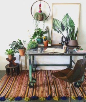 Bohemian Home Office Decor To Inspiration 17