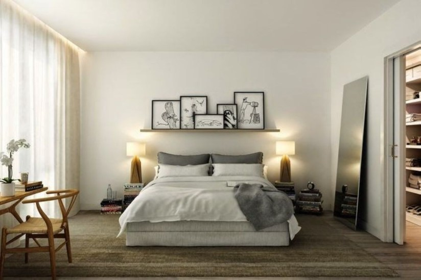 Cozy Bedroom Ideas For Your Tiny Apartment 04