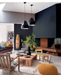 Dark Living Room Design For Home Decor 02