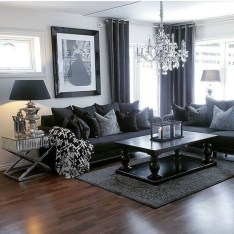Dark Living Room Design For Home Decor 09