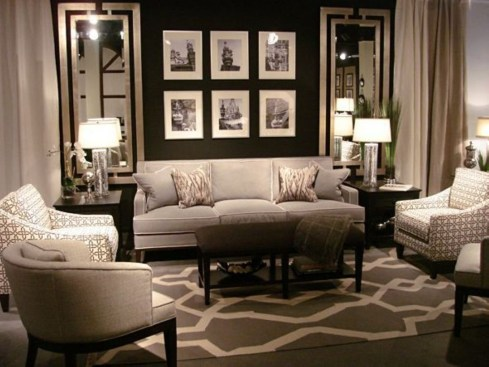 Dark Living Room Design For Home Decor 20