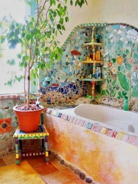 Lovely House Plants In The Bathroom07