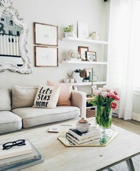 Neat And Cozy Living Room Ideas For Small Apartment 16
