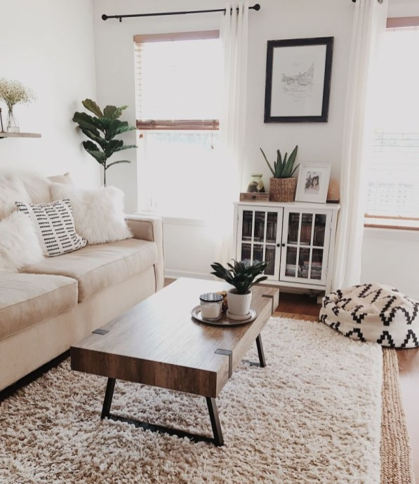 Neat And Cozy Living Room Ideas For Small Apartment 35