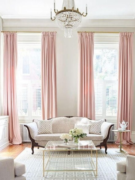 Pink And Gray Modern Living Room Decor 04