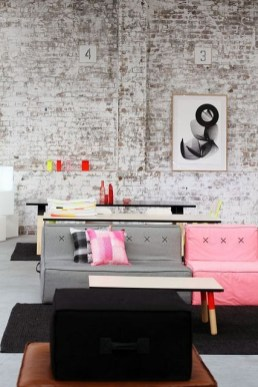 Pink And Gray Modern Living Room Decor 22