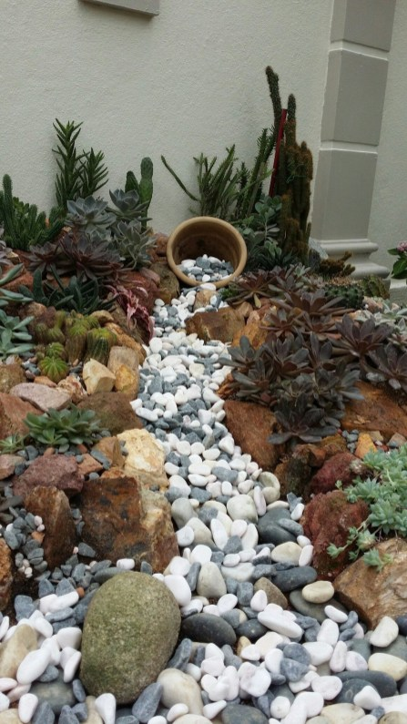 River Rock Landscape And Lavender Bush For Your Outdoor 10