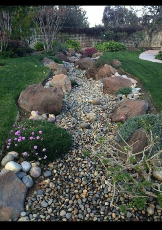 River Rock Landscape And Lavender Bush For Your Outdoor 13