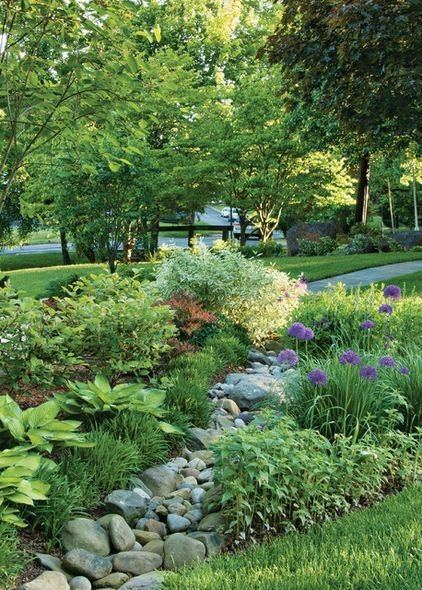 River Rock Landscape And Lavender Bush For Your Outdoor 26