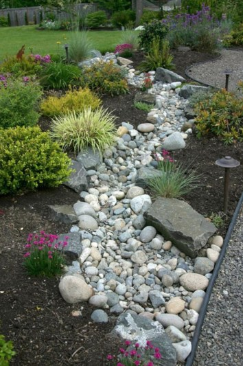 River Rock Landscape And Lavender Bush For Your Outdoor 27