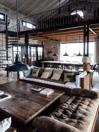 Rustic Modern Living Room Ideas 16