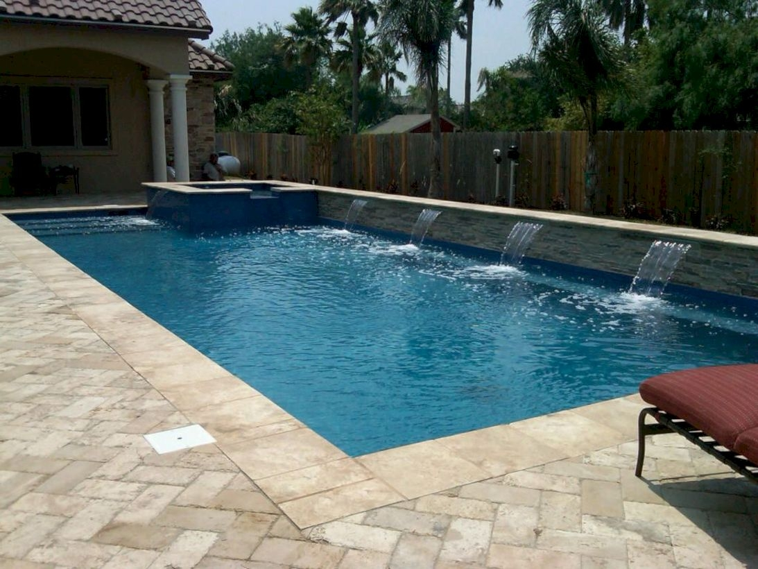 Style Swimming Pool With Natural Stone Tiles 10