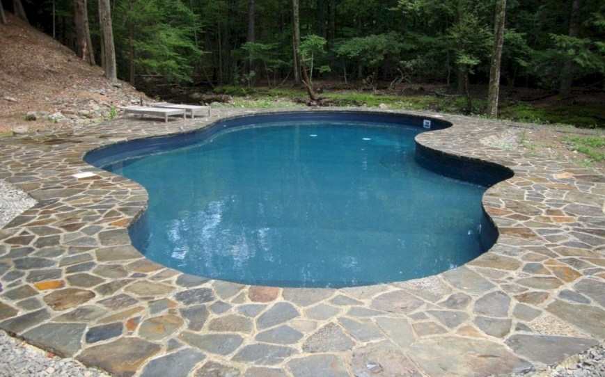 Style Swimming Pool With Natural Stone Tiles 18