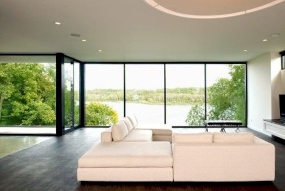 Modern Airy Home Design With Amazing Lake Views 15
