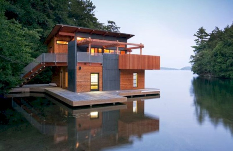 Modern Airy Home Design With Amazing Lake Views 16