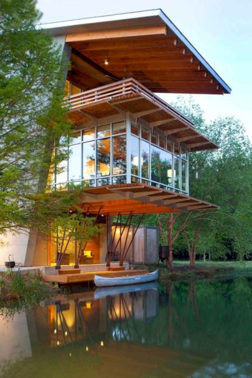 Modern Airy Home Design With Amazing Lake Views 19