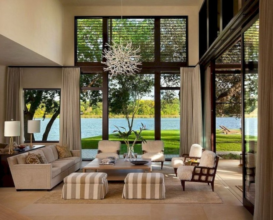 Modern Airy Home Design With Amazing Lake Views 25