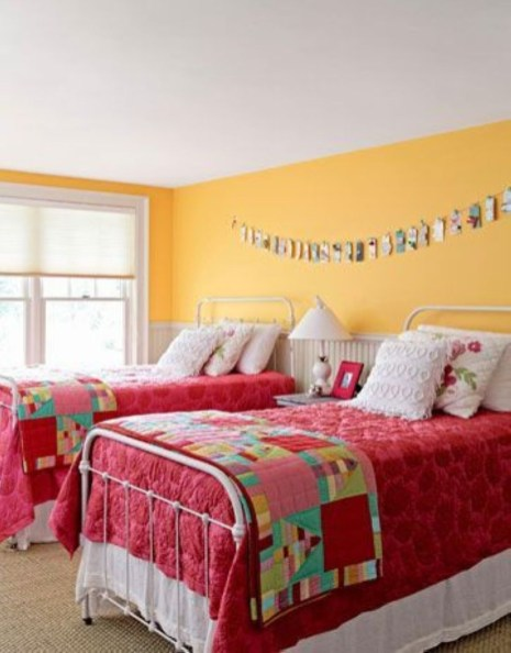 Yellow Bedroom For Your Child's Room Idea To Sleep Feels Warm 03