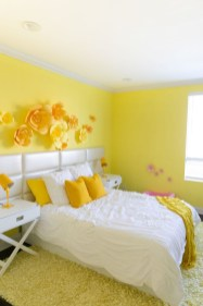 Yellow Bedroom For Your Child's Room Idea To Sleep Feels Warm 06