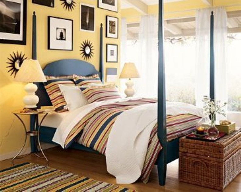 Yellow Bedroom For Your Child's Room Idea To Sleep Feels Warm 14