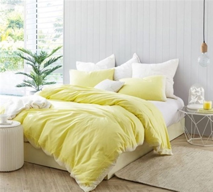 Yellow Bedroom For Your Child's Room Idea To Sleep Feels Warm 19