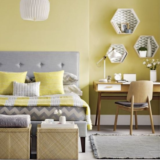 Yellow Bedroom For Your Child's Room Idea To Sleep Feels Warm 24