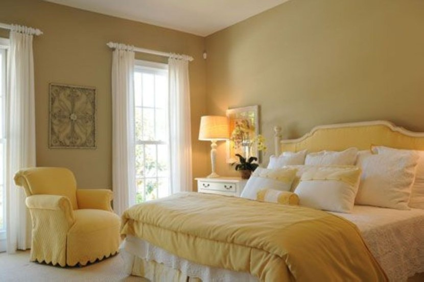 Yellow Bedroom For Your Child's Room Idea To Sleep Feels Warm 26