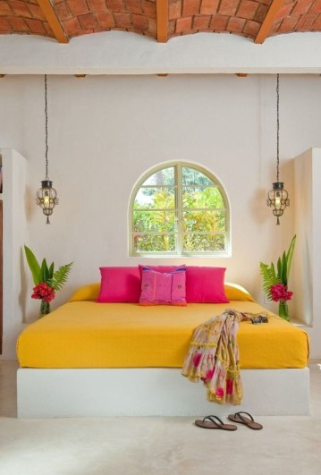 Yellow Bedroom For Your Child's Room Idea To Sleep Feels Warm 41