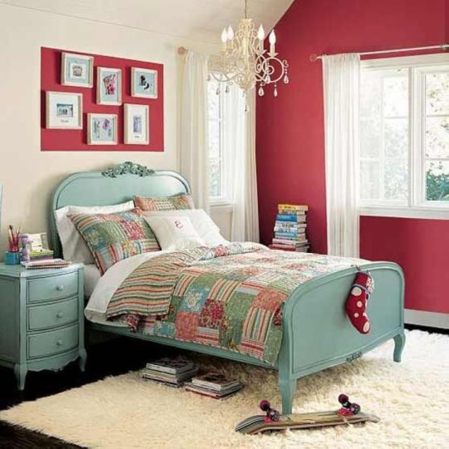 Cozy Teen Bedroom Decoration On Pink Style 01