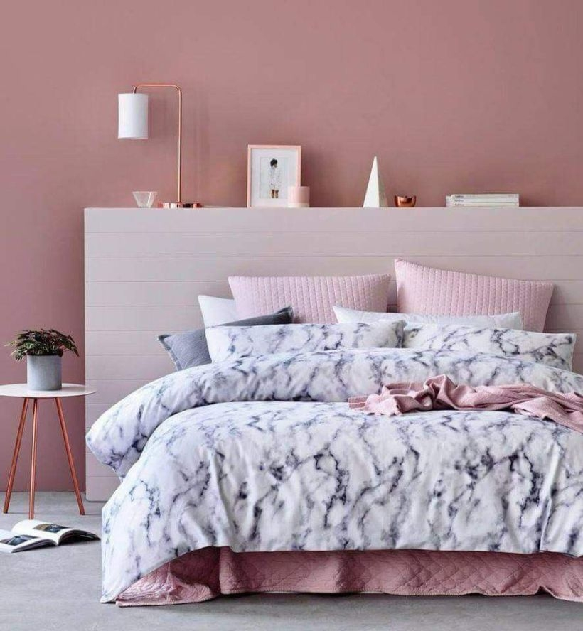 Cozy Teen Bedroom Decoration On Pink Style 06